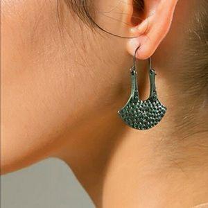 Dangle Earrings Hammered Patina